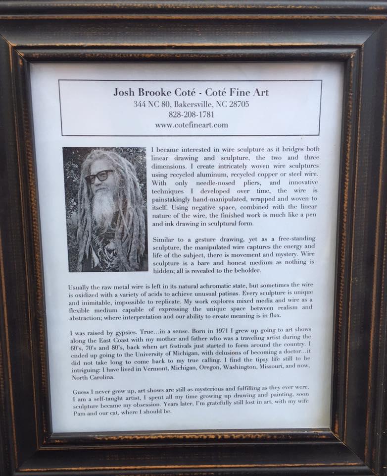 About the artist Josh Brooke Cote.