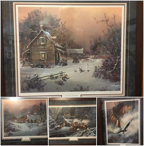 Exceptional artist Ted Blaylock donated four signed and numbered prints