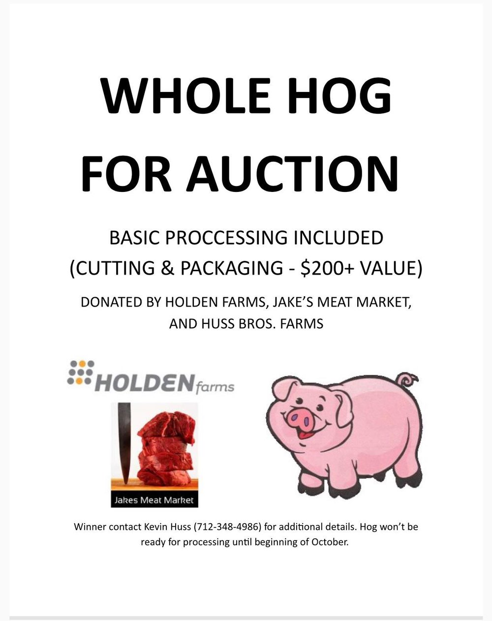 Whole hog & processing