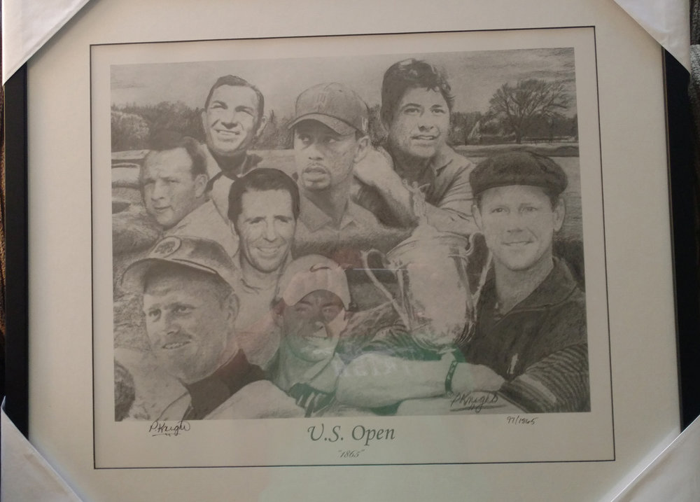 US Open lithograph  - Donated by Warrior Custom GolfExtremely rare edition Lithograph of an original illustration of US Open.
