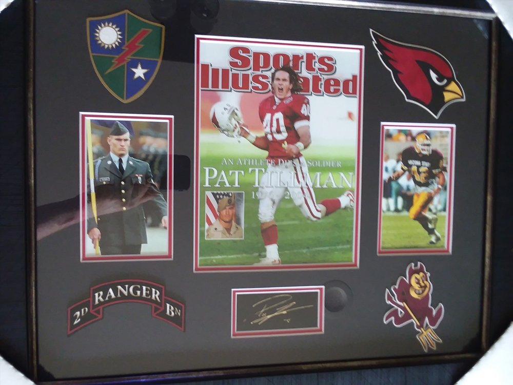 Pat Tillman Print - For more information:https://www.youtube.com/watch?v=Y9R200u15rkDonated by Wayne and Marlene Anderson
