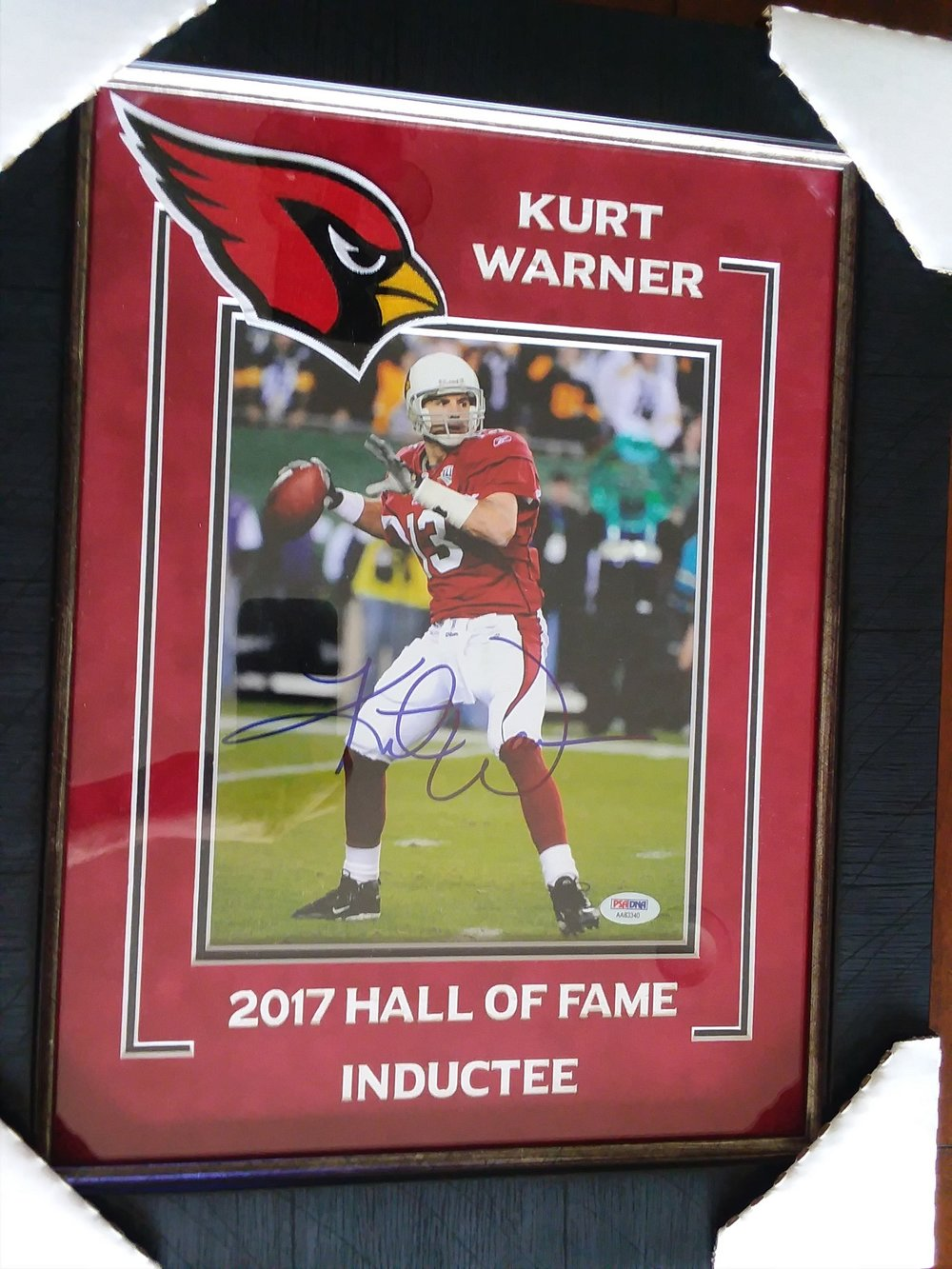 Autographed Kurt Warner Photo - Donated by Wayne and Marlene Anderson