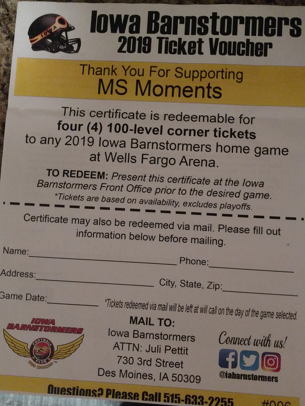 Barnstormers tickets - Barnstormers - Four level 100 (corner) tickets for any 2019 home game