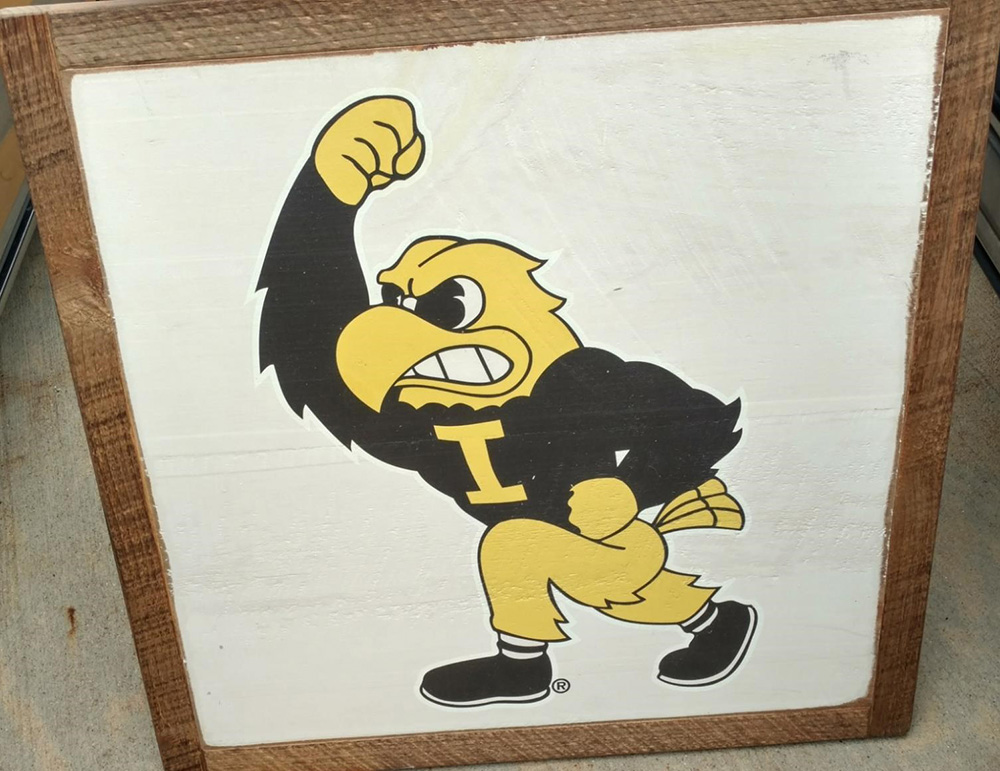 Framed Herky that will be eligible for a personalized autograph from Kirk Ferentz - eligible for a personalized autograph from Kirk FerentzDonated by Scheels