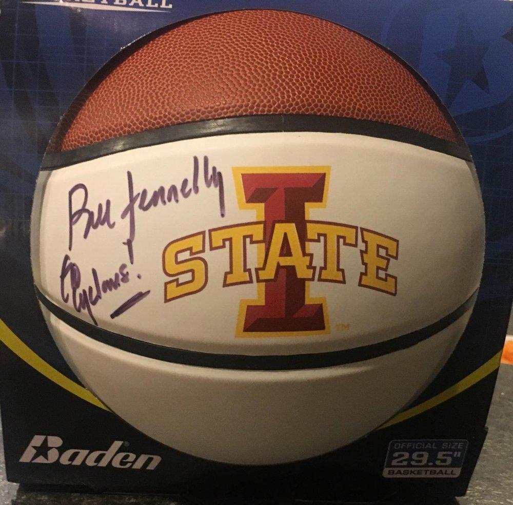 ISU signed basketball - • Donated by Tom Prochnow• Signed by Bill Fennelly – head women's basketball coach
