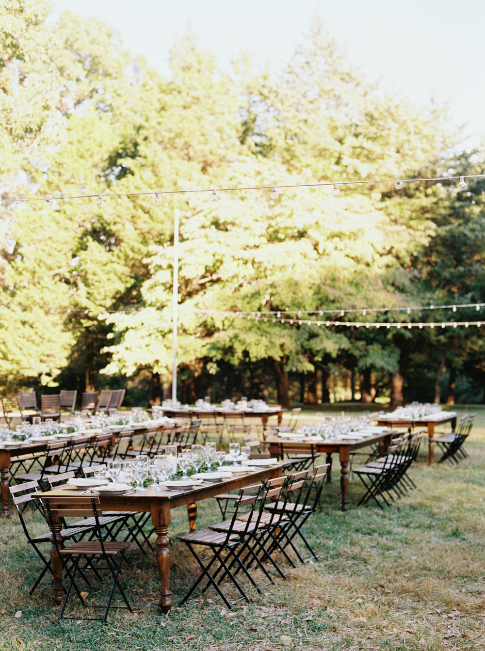 Fall Bloomsbury Farm Wedding - Nashville, TN - Farm Tables