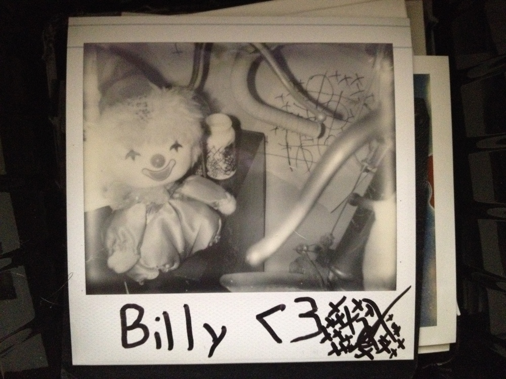 Damen is not only obsessed with music, but also with Polaroid photography. This is a photo he took of his childhood doll named 'Billy.'