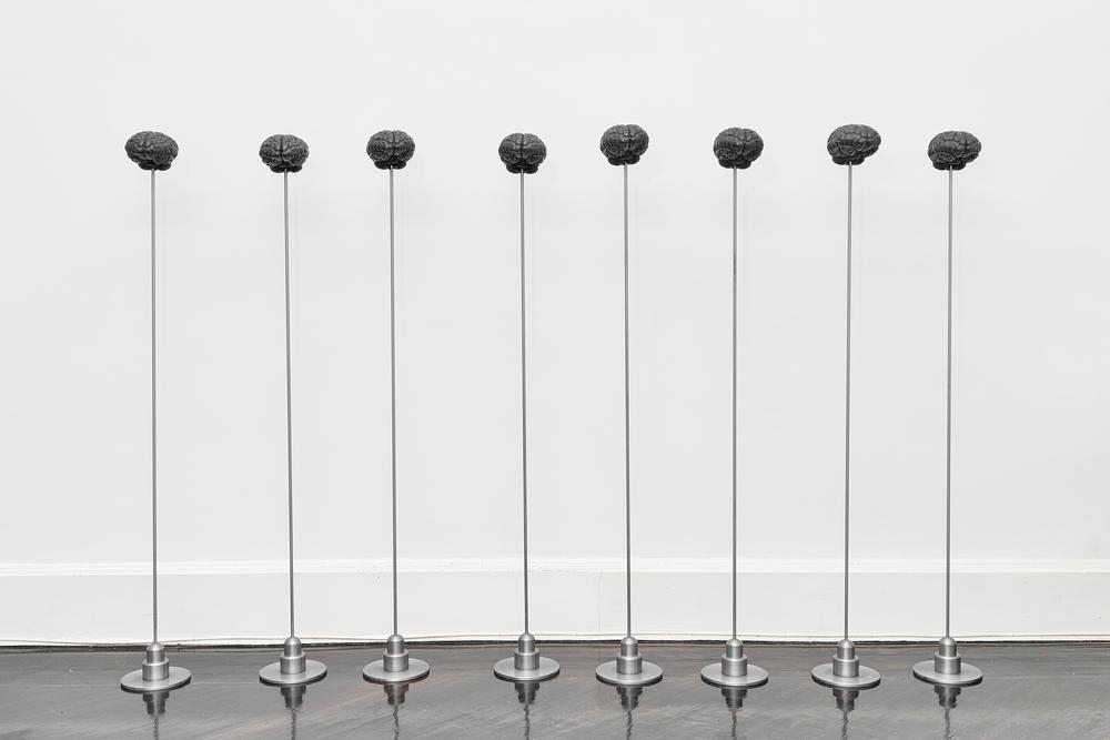 Emilio Chapela   Artificial Intelligence: 8 nobel prizes  Silicio, resina y metal  Galeria Henrique Fari, Nueva York