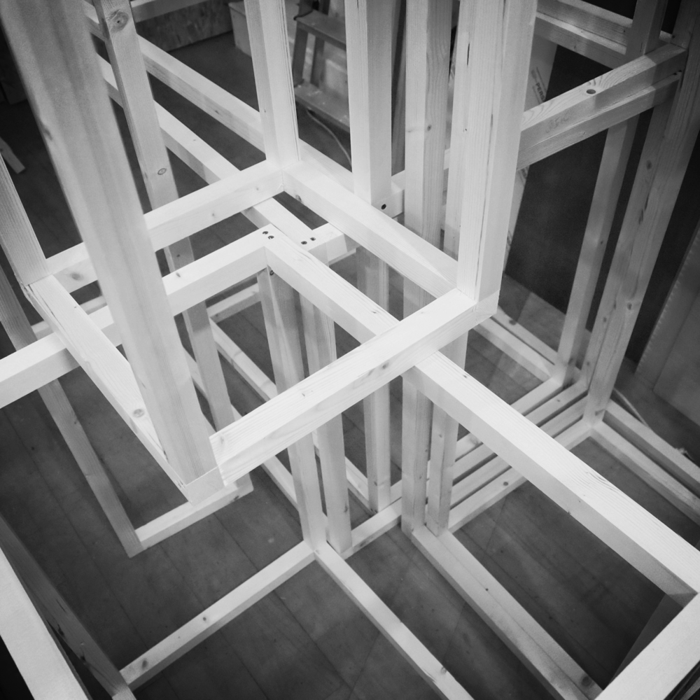 Timber display tables for GIA   'Physical Model' exhibition at the  McLellan Galleries, Glasgow.