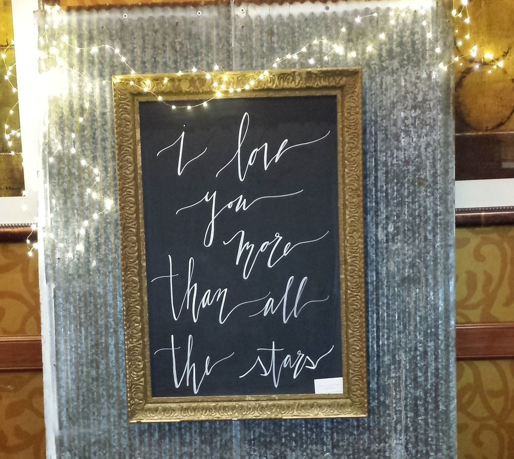 Lettering by Abigail Lauren Design - on the chalkboard and the chalkboard globe!