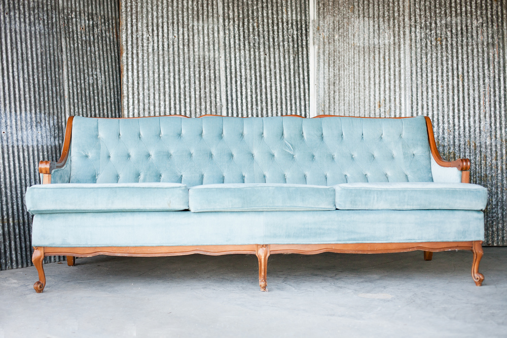 Serenity Blue / Blog Post - Something Old Event Rentals Aaron Sofa Vintage Rentals