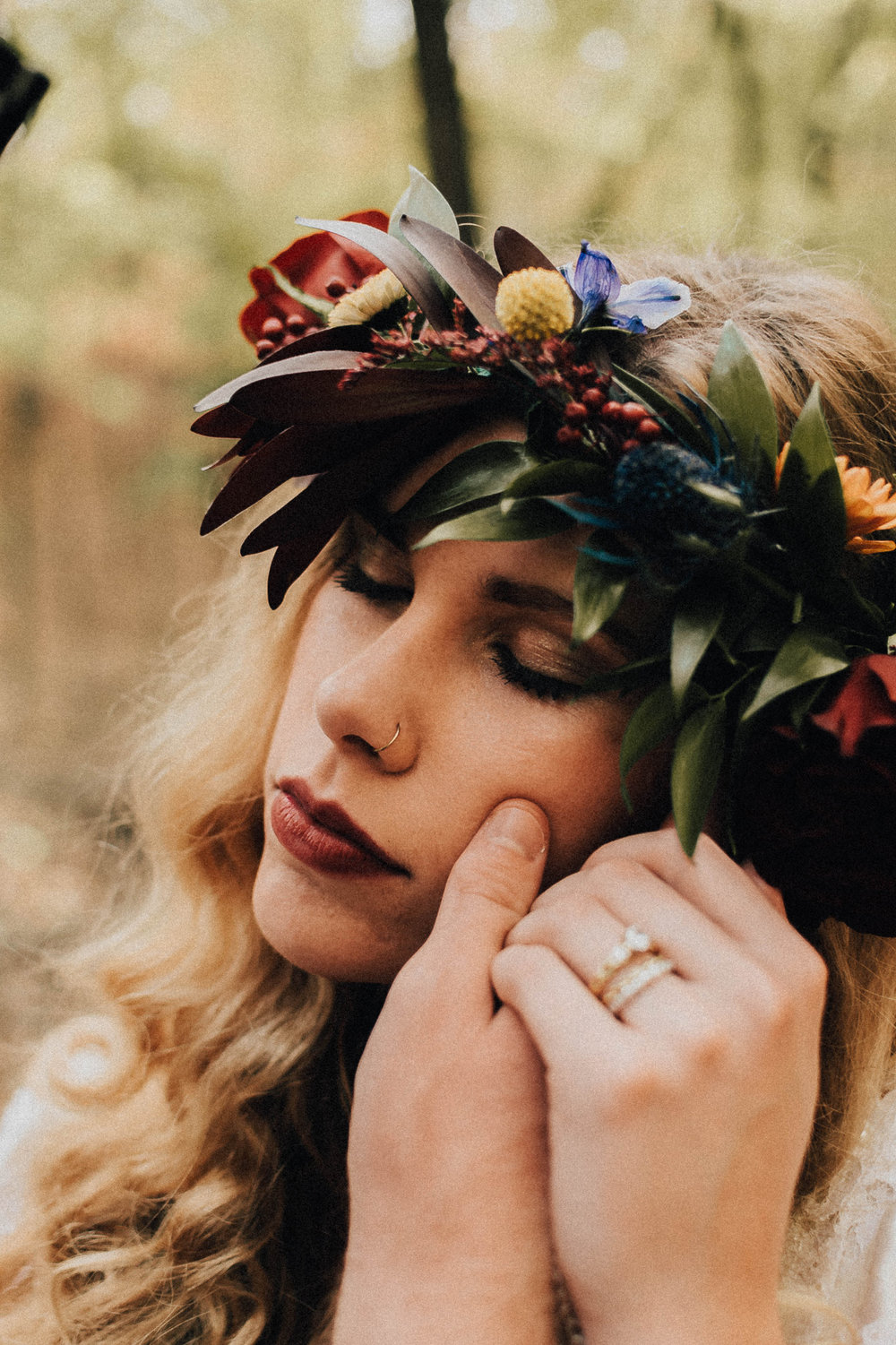 Part II: Boho Fall Editorial with Lauren Fotography, Fancy Florals by Nancy, Bremer Jewelry. Boejannies, Men's Wearhouse, Corpo Bello Salon, East To West Studio and Something Old Event Rentals