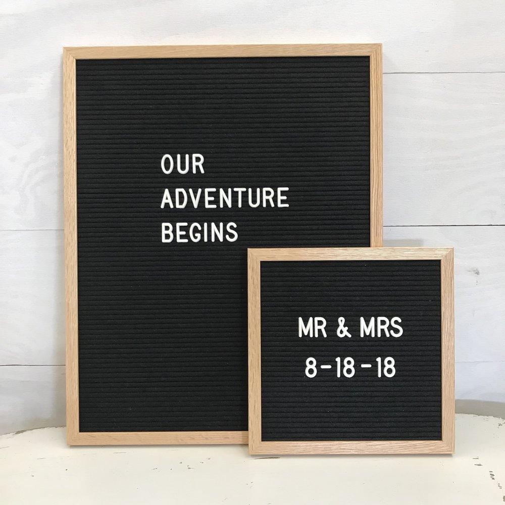 Poet Letterboard Spruce Wedding Rentals