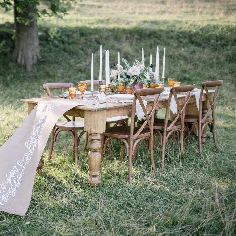 Farm Tables, Sweetheart Tables, Banquet Tables
