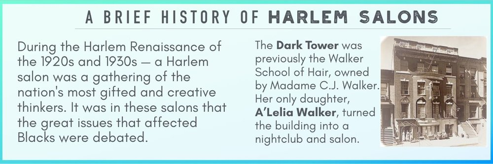 harlem salon harlem renaissance A'lelia walker dark tower
