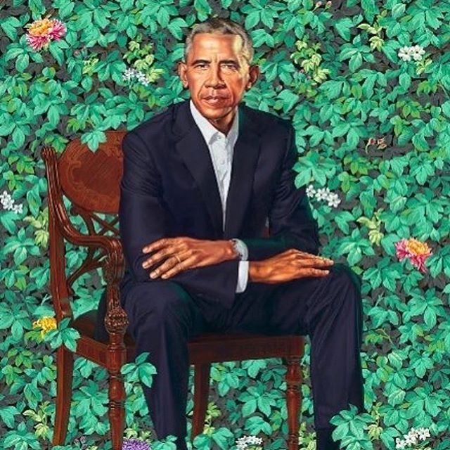 👏🏿🖤👏🏿🖤🔥🔥🔥 Congratulations to @kehindewiley and @asherald !!! The official portraits of the President and First Lady are amazing.