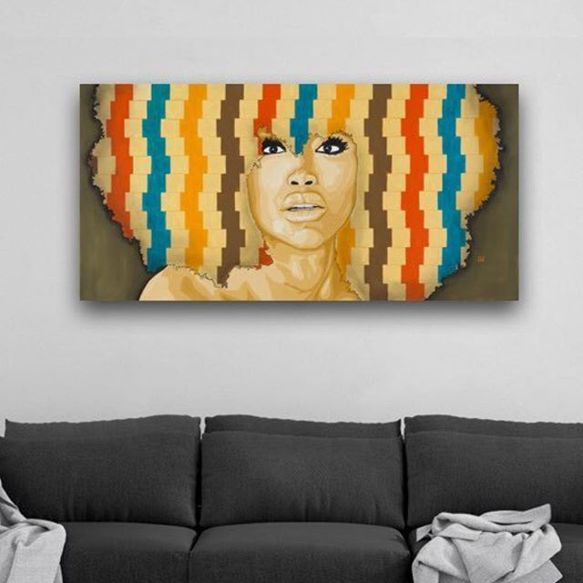The Gaze by @andrewooleryart 👆🏿tap the pic to bring this piece home #bringblackarthome #blackarteveryday