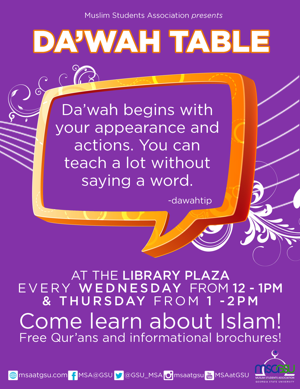 Da'wah Flyer Fall 2014