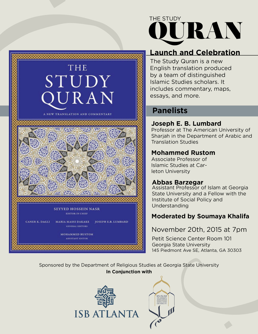 the study quran launch and celebration muslim students the study quran is a new english translation produced by a team of distinguished islamic studies scholars it includes commentary maps essays and more