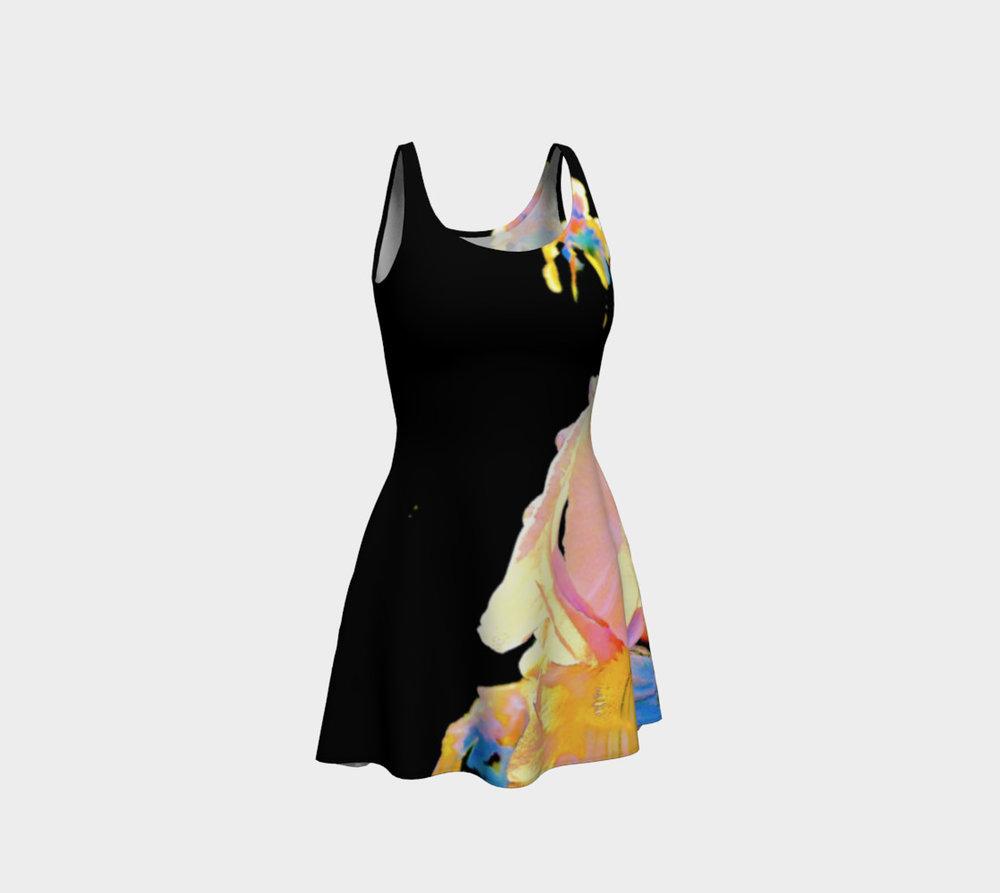 Iris Rainbow Flare Dress
