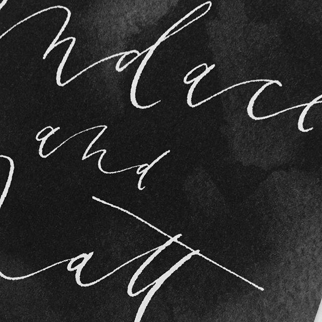 Black washed background.. 👌🏼 #kellyleedesign #wedding #invitations #handlettering #modern #calligraphy #ink #watercolor #weddingstationery #custom #weddingideas #inspiration #royal