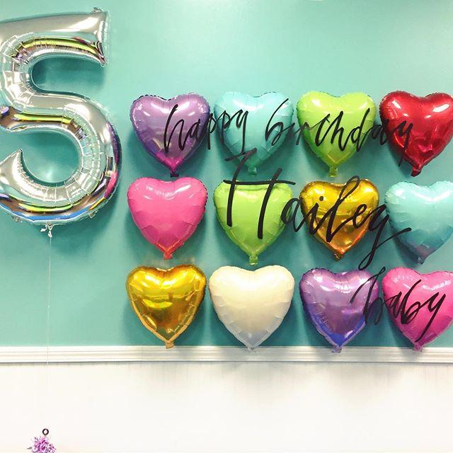 Happy Birthday, Hailey baby! #birthday #handlettering #calligraphy #installation #3d #lettering