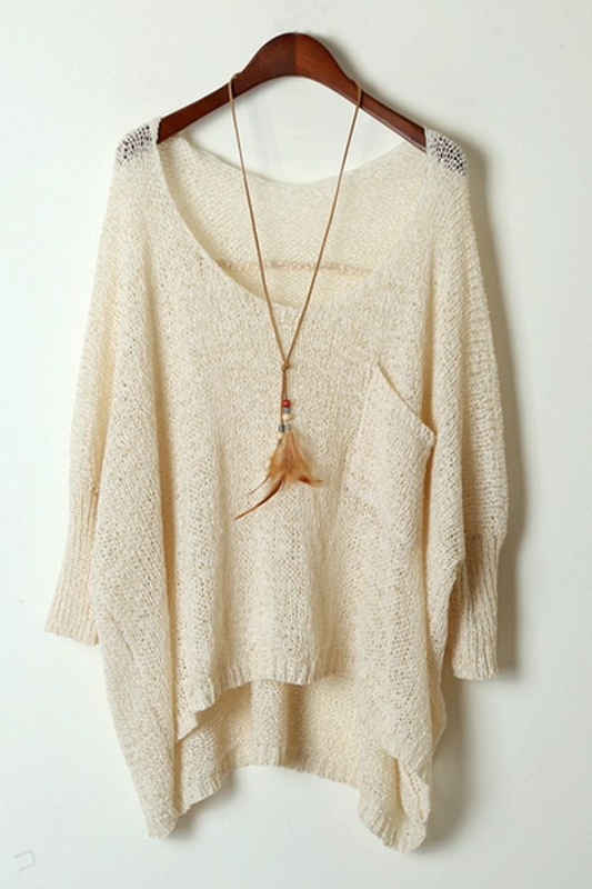 "The ideal boho-chic ""basic"" sweater for the warmer fall climates. Click through to shop!"