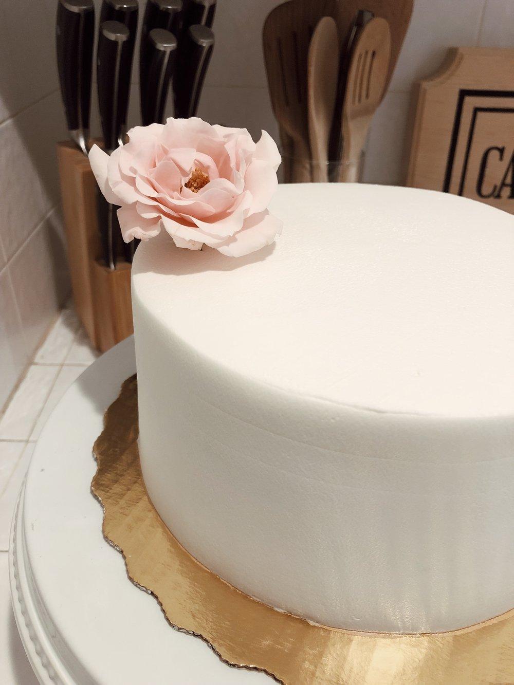 diy cake decor pretty pink pastel flowers