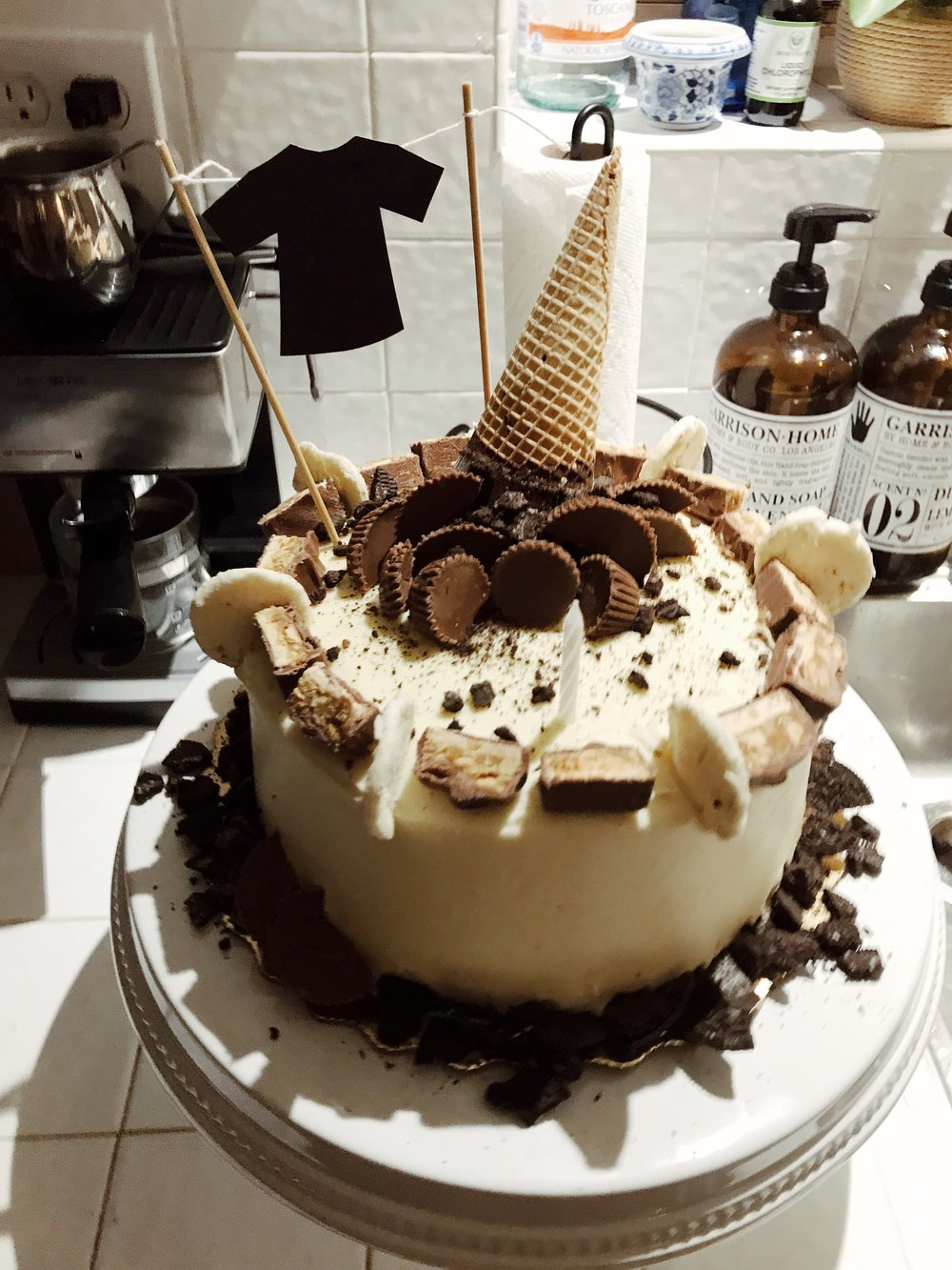 diy cake decor ice cream cone chocolate oreo birthday cake