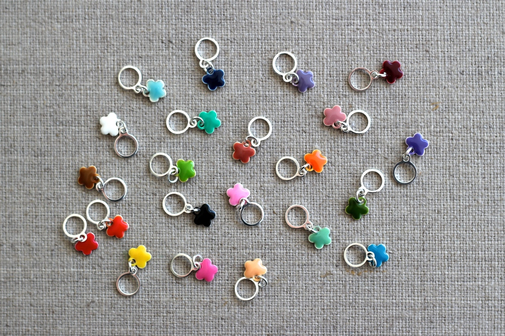 My stitch markers are back in stock in the  Sweet Fiber Shop !