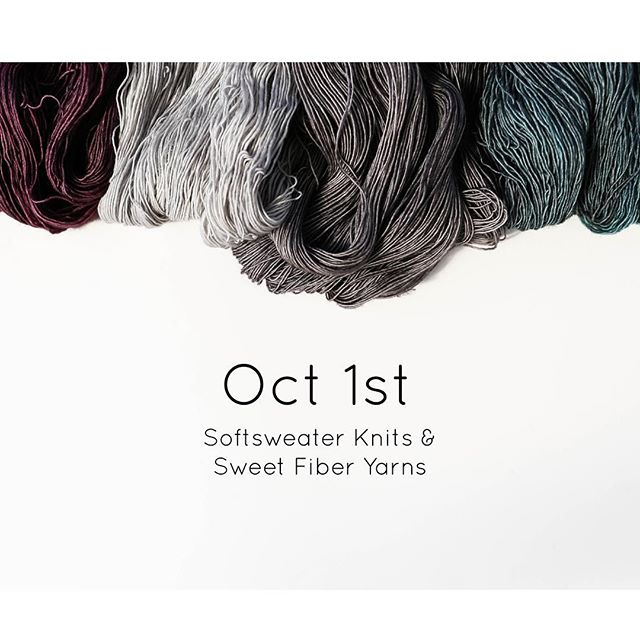 I can hardly contain my excitement. See it first at #knitcity2016! ✨ @softsweater #sweetfiberyarns #softsweaterknits