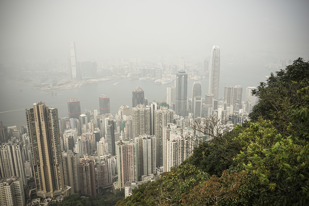 Looking down on the city from Victoria Peak