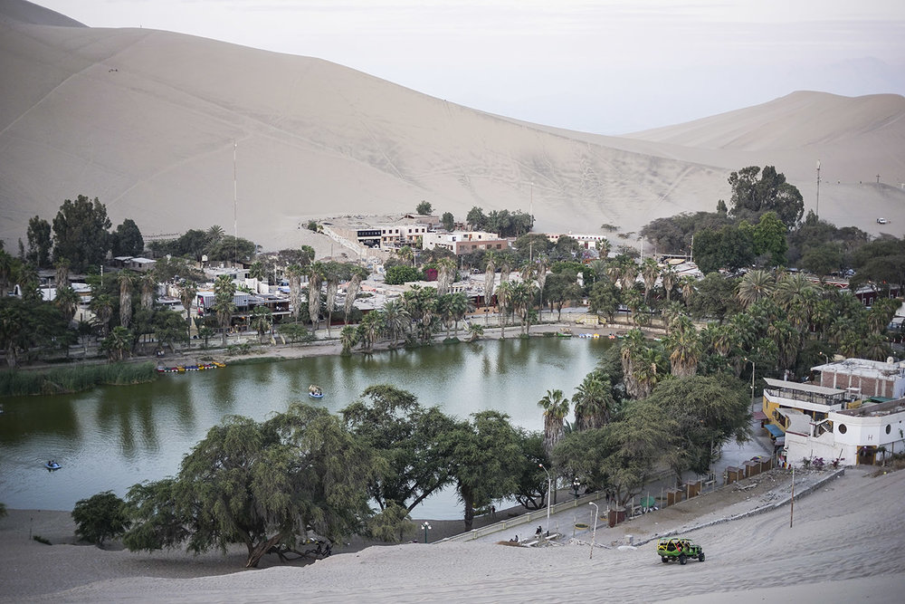 Oasis town of Huacachina