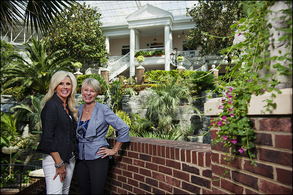 Karen Shayne from Brentwood, TN and Judy Pearson, from Chicago, IL, are the co-leaders of a group called the Women Survivors Alliance.  Cancer survivors themselves, the pair will be featured in AACR's Cancer Progress Report. Here they pose for photos at the Gaylord Opryland Hotel in Nashville, TN on Wednesday, July 23, 2014. Photos by Brian Powers