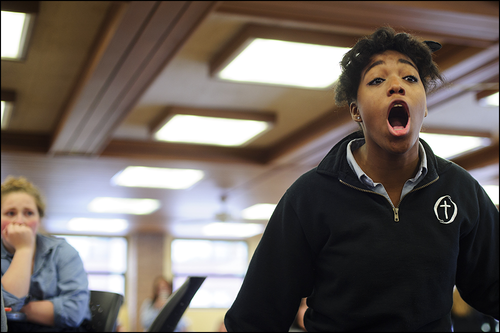 Black lives matter flashmob at Interlochen Arts Academy in Interlochen, MI on Wednesday, December 10, 2014. Photo by Brian Powers