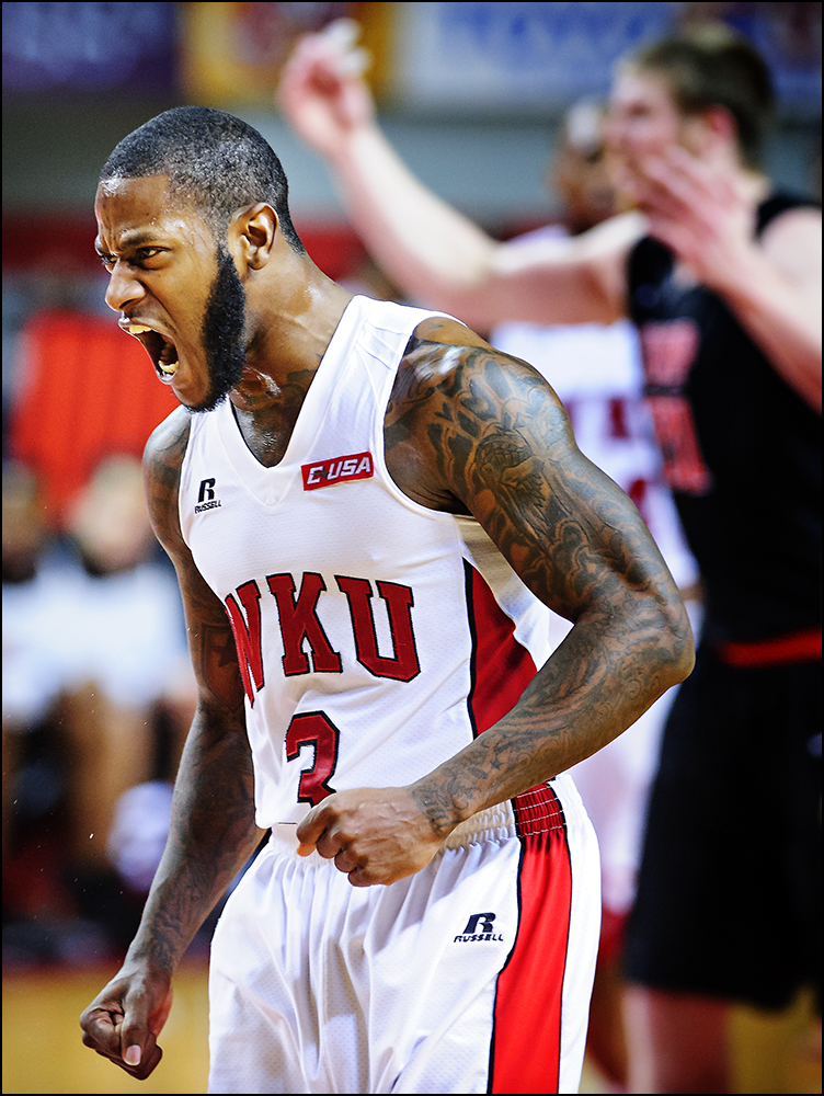 WKU vs. UTEP during their game at Diddle Arena in Bowling Green, Ky. on Thursday, January 22, 2015. Photo by Brian Powers