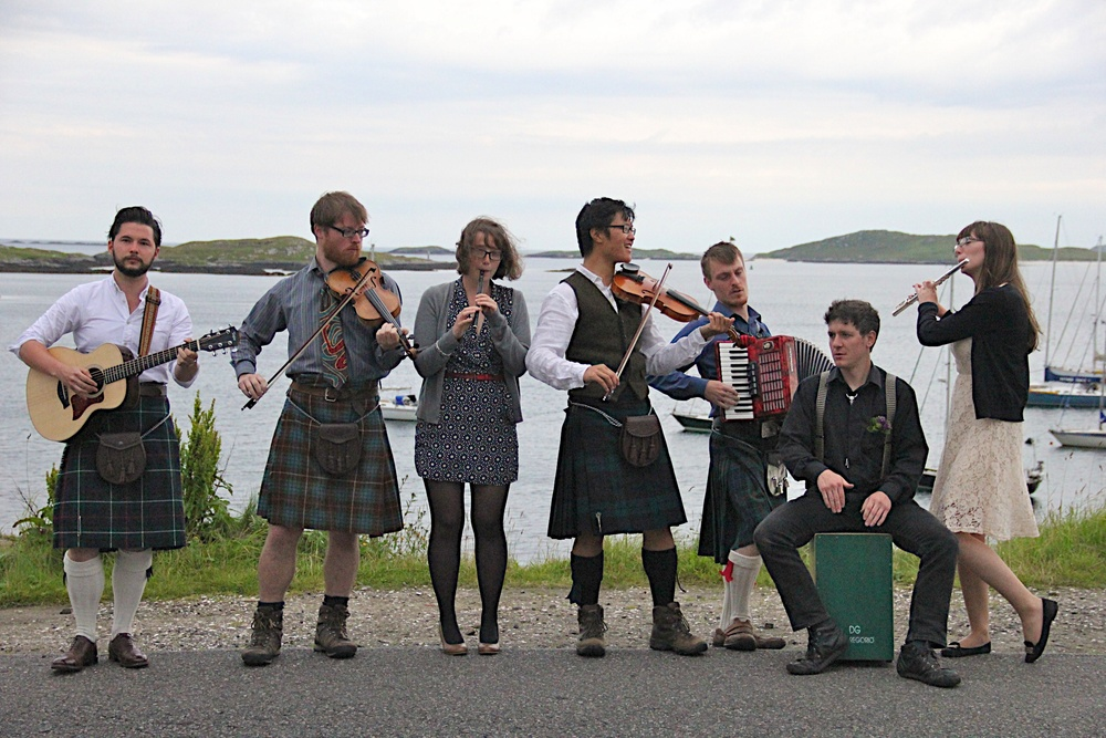 The Band with friends on Barra