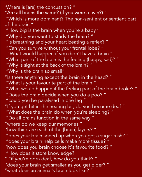 Do you have any other questions about the brain? Dunbar Primary P6&7s (104 surveys)