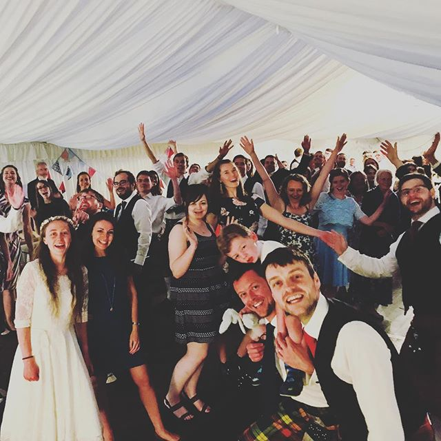 We had a lovely time celebrating the beautiful wedding of friends Alex and Jenny this weekend in the Kingdom of Fife - with an epic Strip the Willow to end!!! (though not enough to keep one wee bairn awake!!!) 🎉Congratulations to you both, happy adventures!! ⛰️🎶🎺