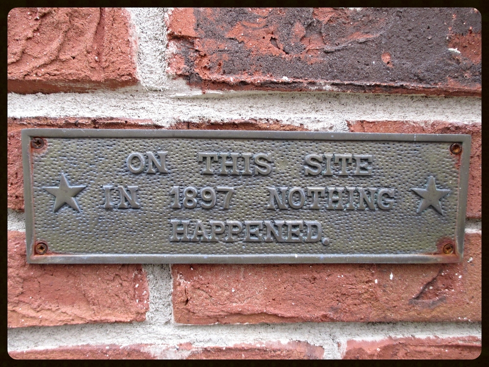 Just a funny plaque I saw on the front corner of a house I inspected a few weeks ago.  I appreciate the sarcasm!