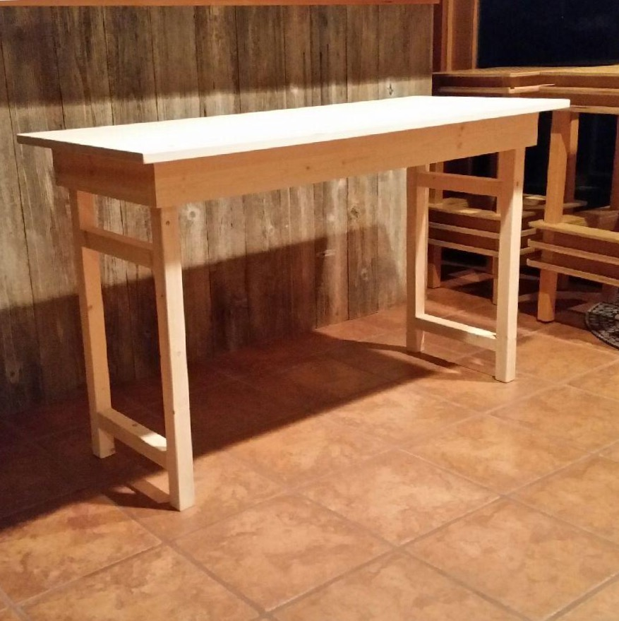 Voila! Le Table! I will have two of these in my booth for displaying product available for sale. I will also have custom-made easels that match the tables for display fixtures.