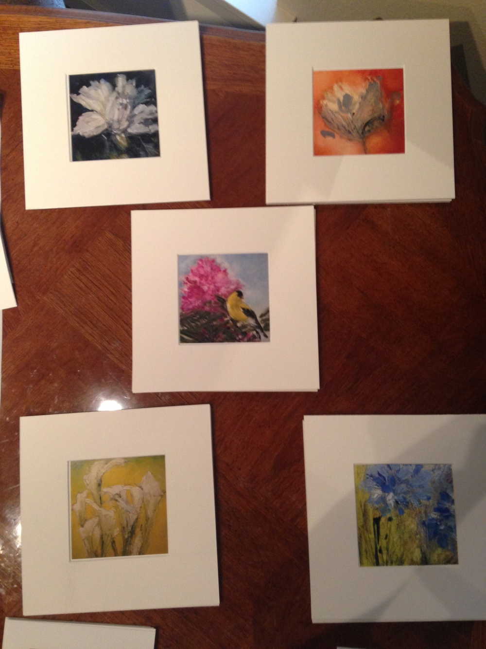 Laying out the prints of new work. Getting an idea of how things will look.