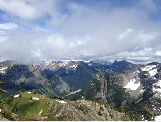 On the decent. This could be a view of Salzburg, Austria! Yet, it is another stunning view of the North Cascades.