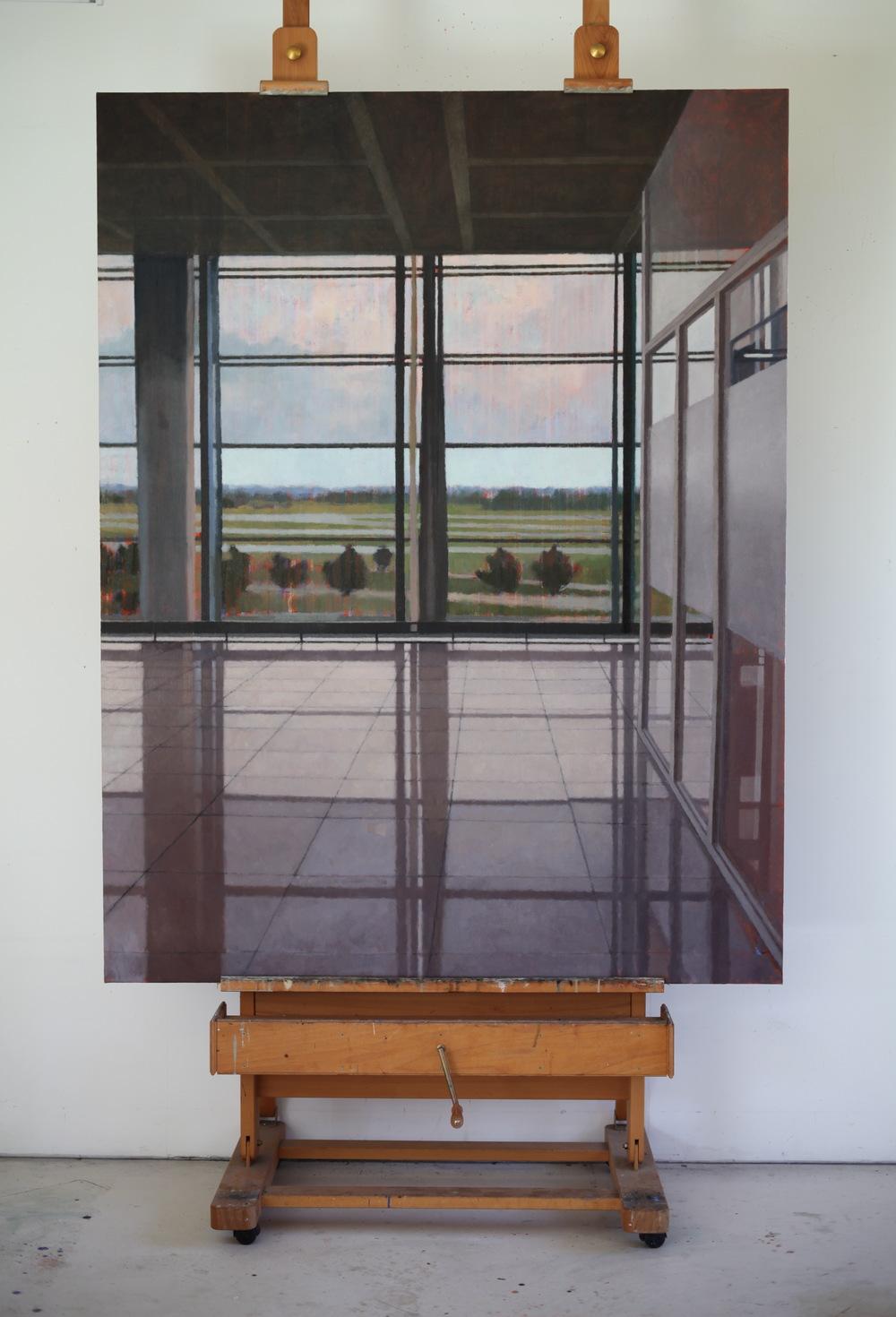 Interior 280 (Munich), 2011, Oil on linen, 1980mm x 1525mm