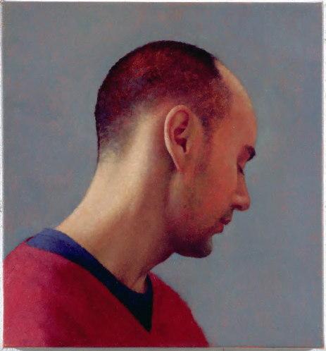 Interior 166 (Richard), 2004, Oil on linen, 400mm x 375mm