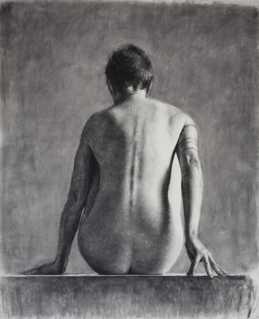 Drawing (Nude II), 2011, willow charcoal on Fabriano paper, 1400 x 1180mm