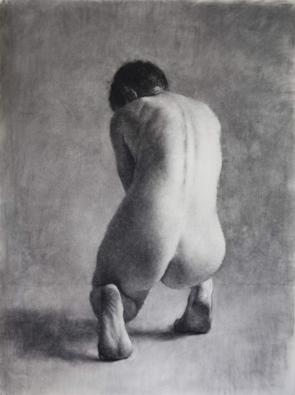 Drawing (Nude III), 2011, willow charcoal on Fabriano paper, 1400 x 1050mm.