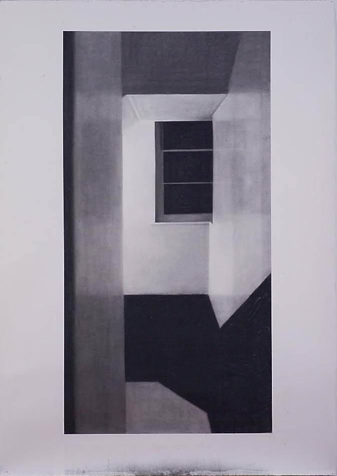 Victoria Chambers II, 2006, willow charcoal on Fabriano paper, 2000 x 1400mm