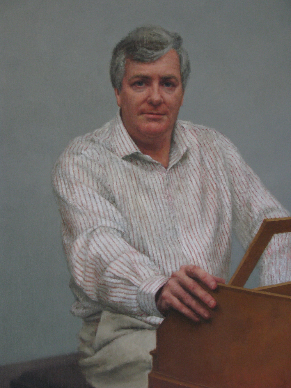 Portrait of Geoffrey Lancaster AM (detail), 2011.