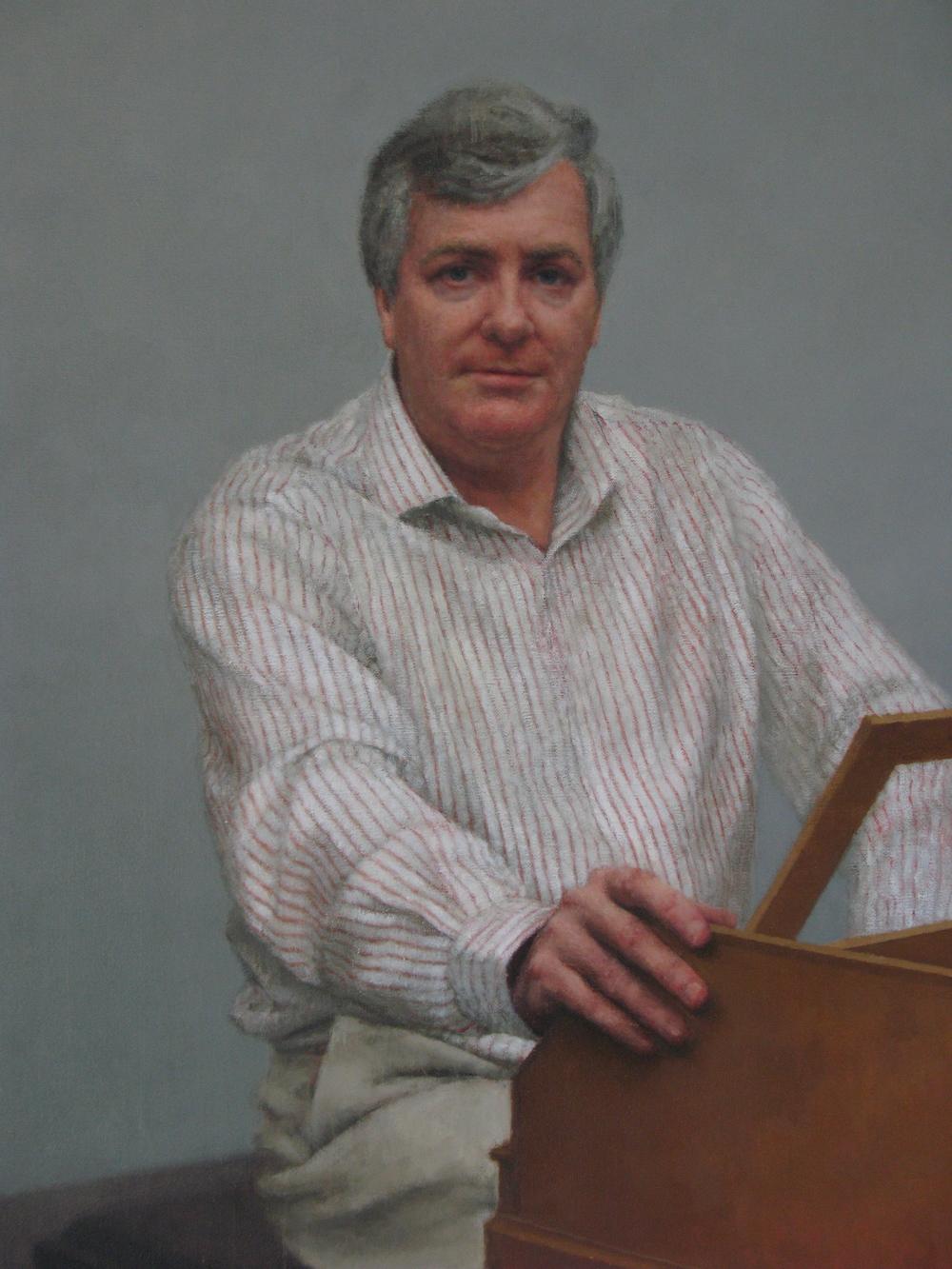 Portrait of Geoffrey Lancaster AM (detail), 2011.
